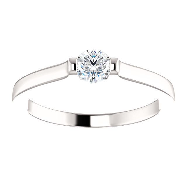 10kt White Gold 4.1mm Center Round Genuine Diamond Ring...(ST71872:101:P).! Price: $379.99