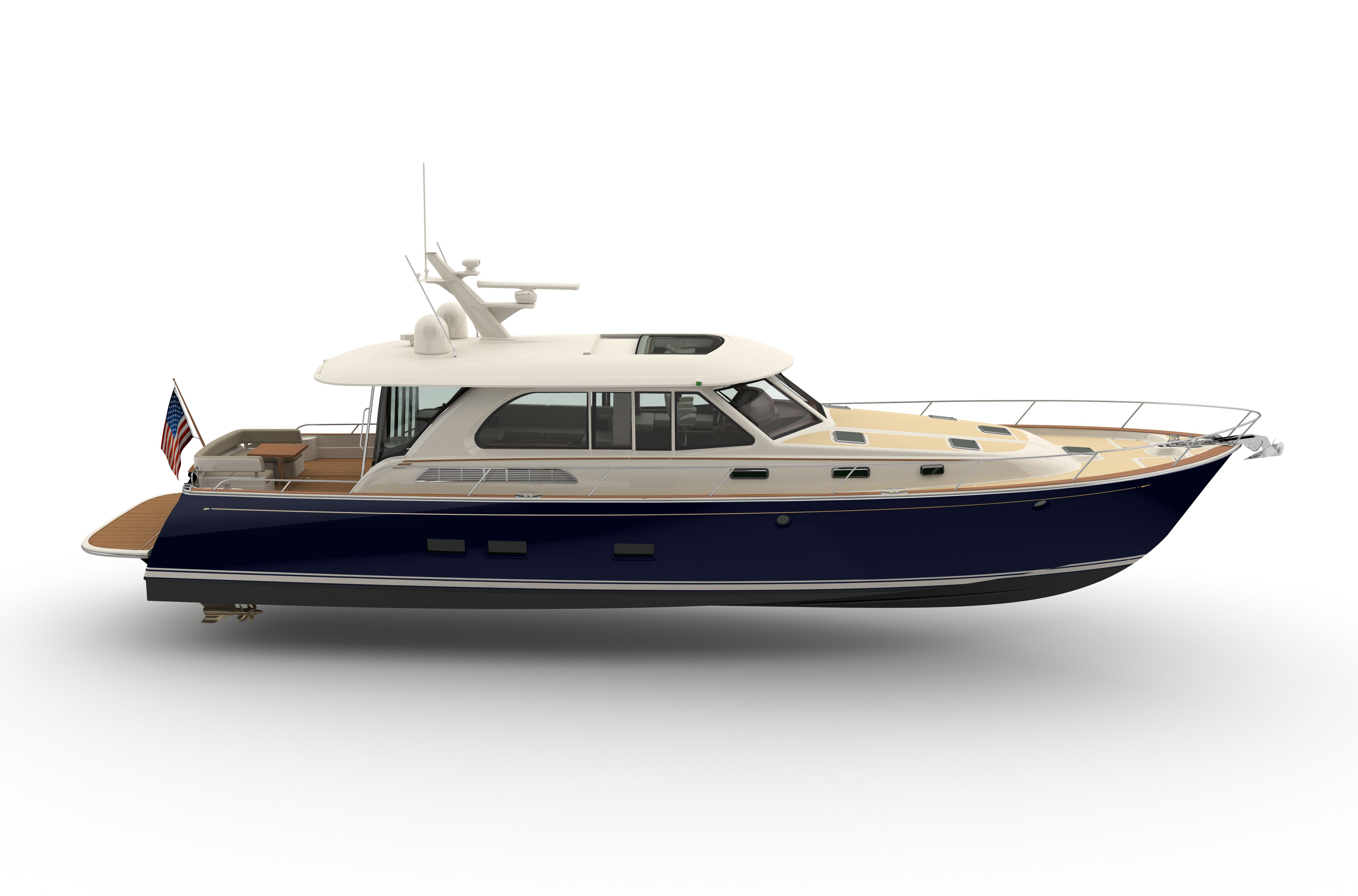The Classic Color Choice For Sabre Yachts Flag Blue Hull And