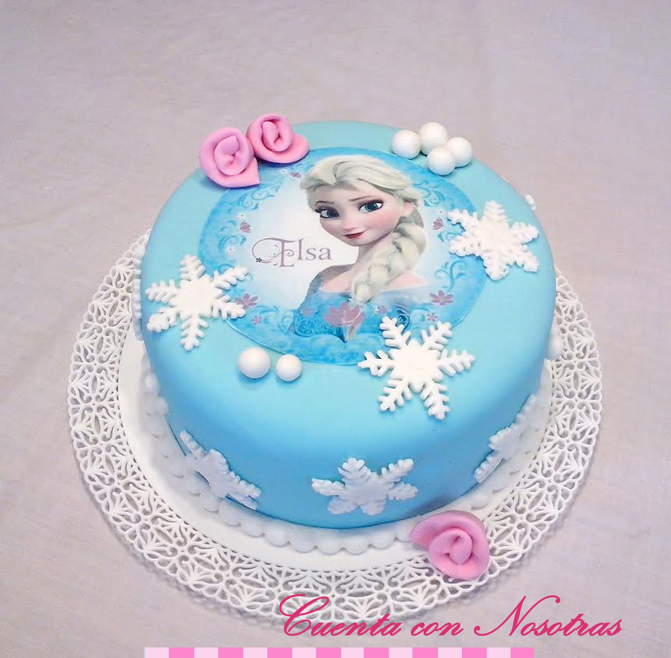 Brilliant Torta Frozen Torta Elsa Frozen Cake With Images Frozen Birthday Cards Printable Trancafe Filternl