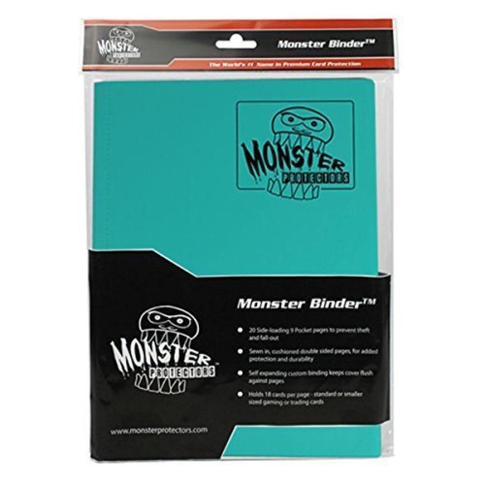 Monster binder matte teal album 9 pocket holds 360 trading