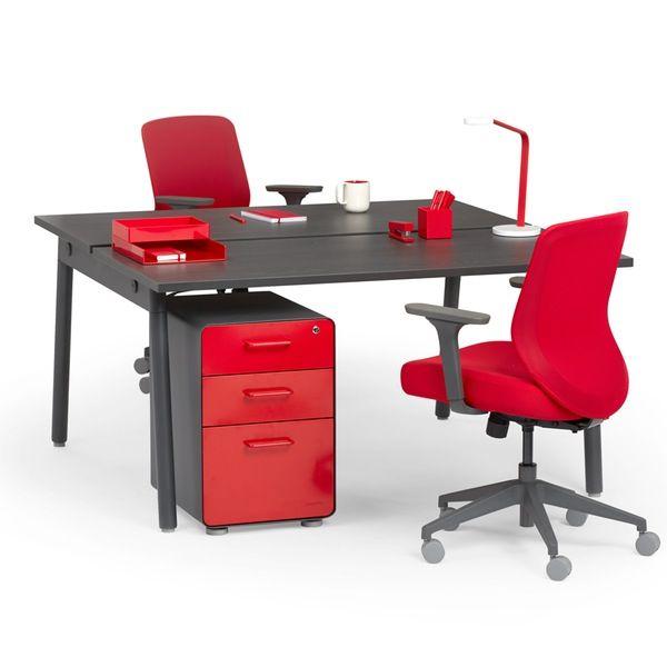 series a double desk for 2 dark oak 57 charcoal legs dark oak rh pinterest com