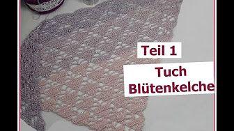 Halbrundes Tuch Häkeln Teil 3 Tuch Ornamentus Youtube Tücher