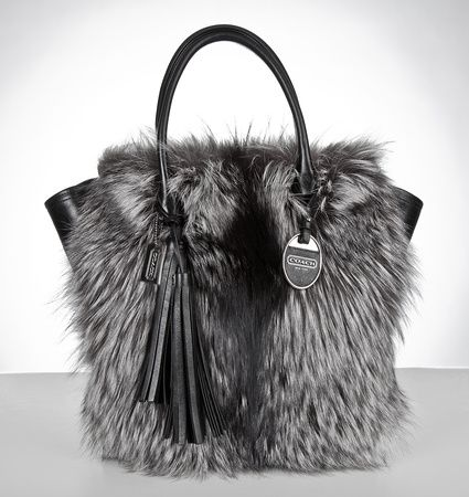 June's thirty dollar decision a Coach Legacy Fur Tanner Tote Purse for my  amazing and beautiful wife