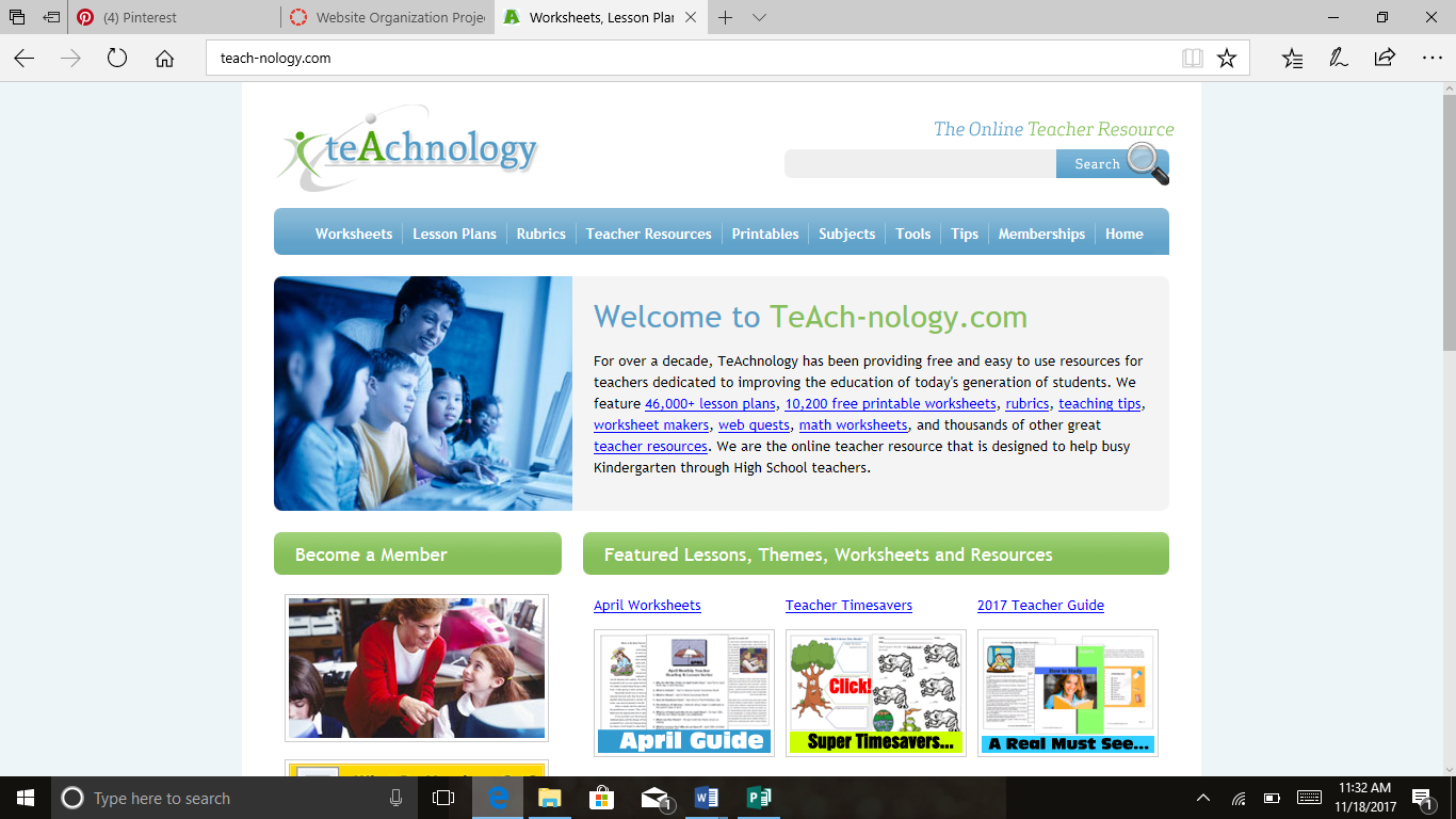 Teachnology Is A Website That Has Many Different Teacher