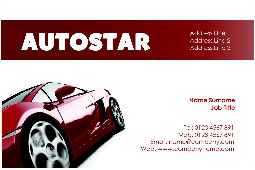 Slick, automotive business card design, ideal for car sales ...