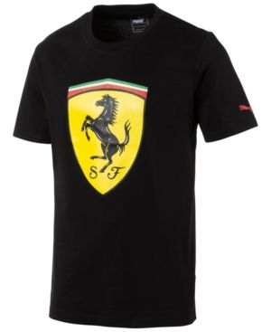 d144bb37e99 Puma Men's Ferrari Big Shield Cotton T-Shirt - Black XXL | Products ...
