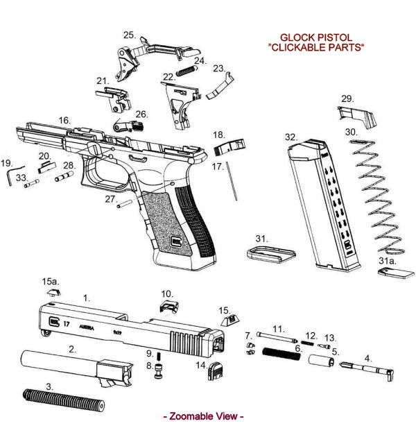 glock parts exploded view diagram cutaway pinterest exploded rh pinterest com glock 22 gen 3 diagram glock 22 exploded diagram