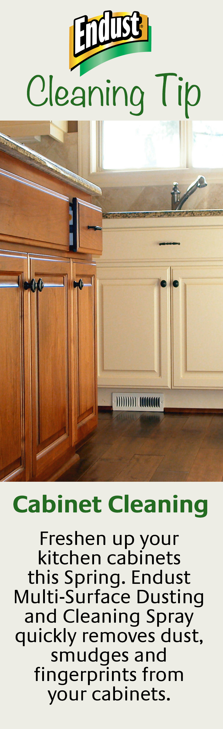 Give Your Kitchen Cabinets A Brand New Look With Endust Multi Purpose Spray Kitchen Cabinets Cleaning Spray Cleaning Dust