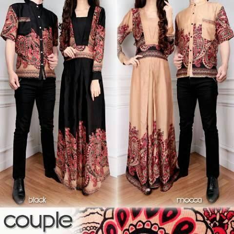 Baju Muslim Couple Batik Terbaru  Baju Muslim Couple Batik