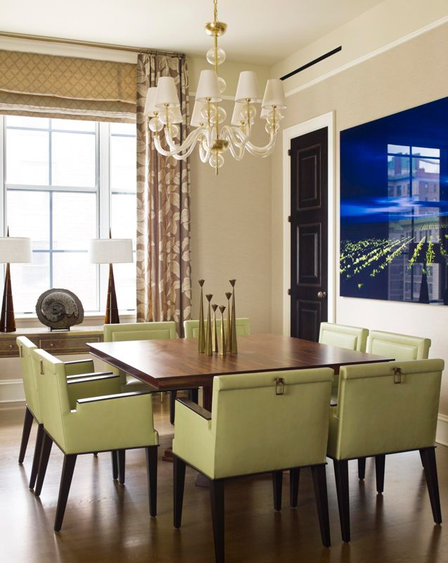Contemporary Dining Room Chairs Stunning A Chandelier Of Murano Glass Illuminates The Dining Room Where Decorating Design