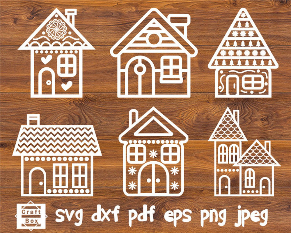 Gingerbread house svg, christmas house svg, house clipart