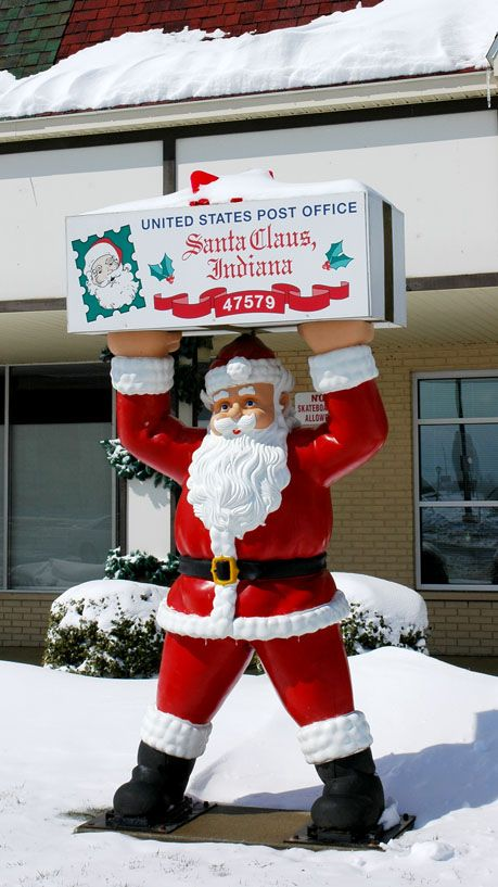 The Only Post Office In The World With Santas Name Holiday World Indiana Alabama