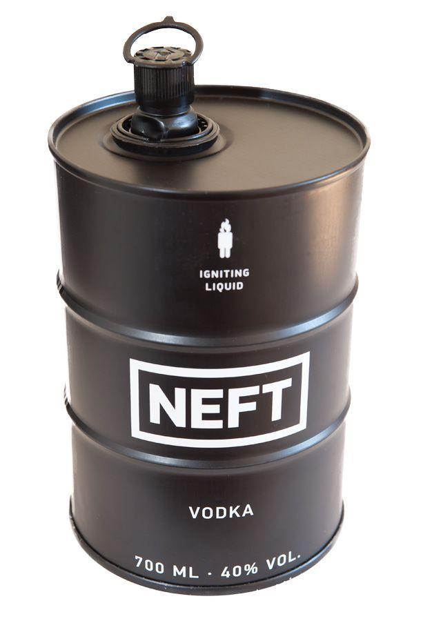 Produkt des Tages, Vodka aus dem Ölfässchen.....NEFT BLACK Vodka 700 ml  / 40 % Österreich