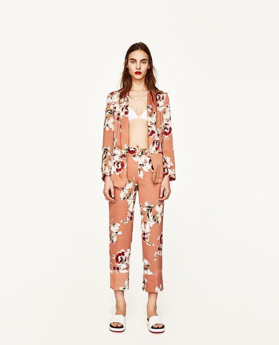 Estampado Y Mujer Blazer Wishes Blazer Zara Floral wEFC0qxR