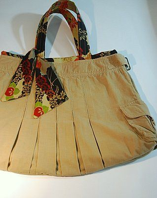 A Whole List Of Bag Purse And Pouch Tutorials Love This Skirt Upcycled To