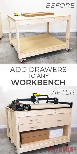 Simple Way to Add Drawers to Any Workbench