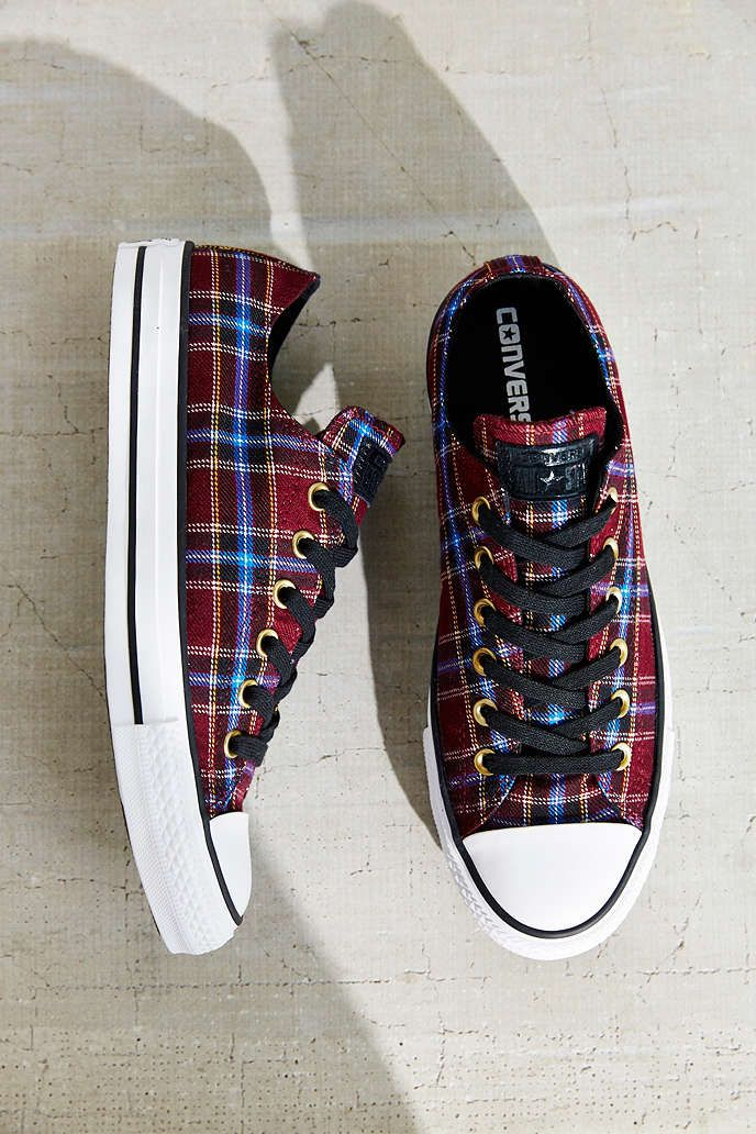0940b256268 Converse Chuck Taylor All Star Plaid Low Top Sneaker - Urban Outfitters