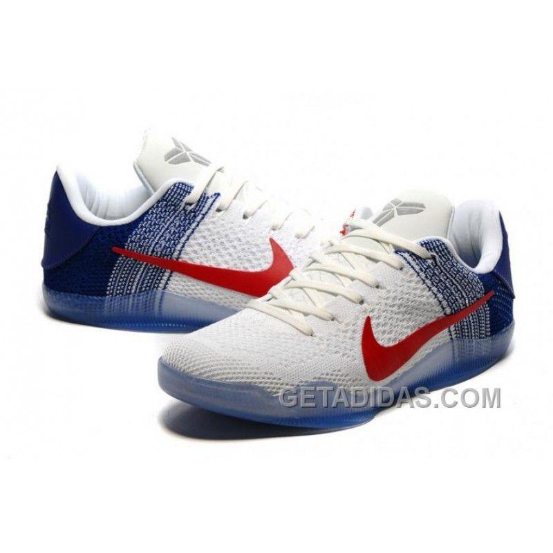 00fd8cc2d925 ... new style nike kobe 11 elite pe white university red navy mens  basketball shoes super deals