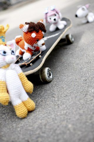 I am making an amigurumi book about Dibidogs. This is one picture of the amigurumis I have crochetted
