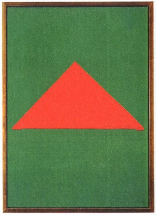 Blinky Palermo - Red Triangle On Green, 1967