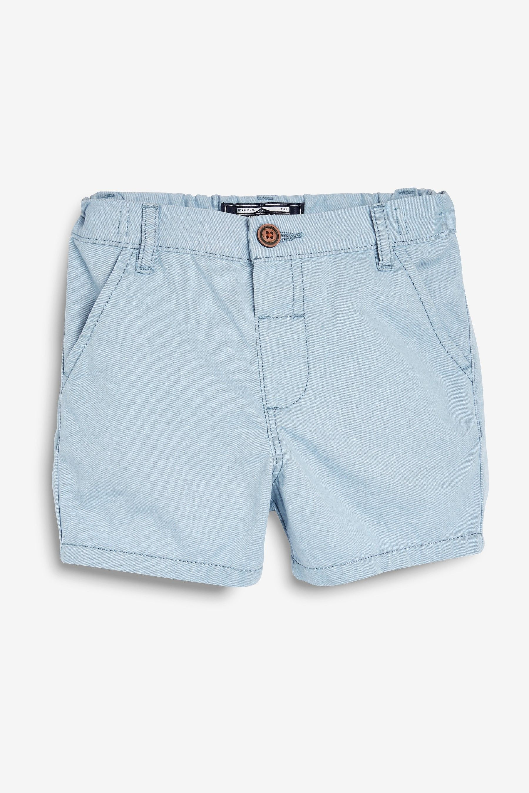 Boys Next Light Blue Chino Shorts (3mths-7yrs) -  Blue #lightblueshorts