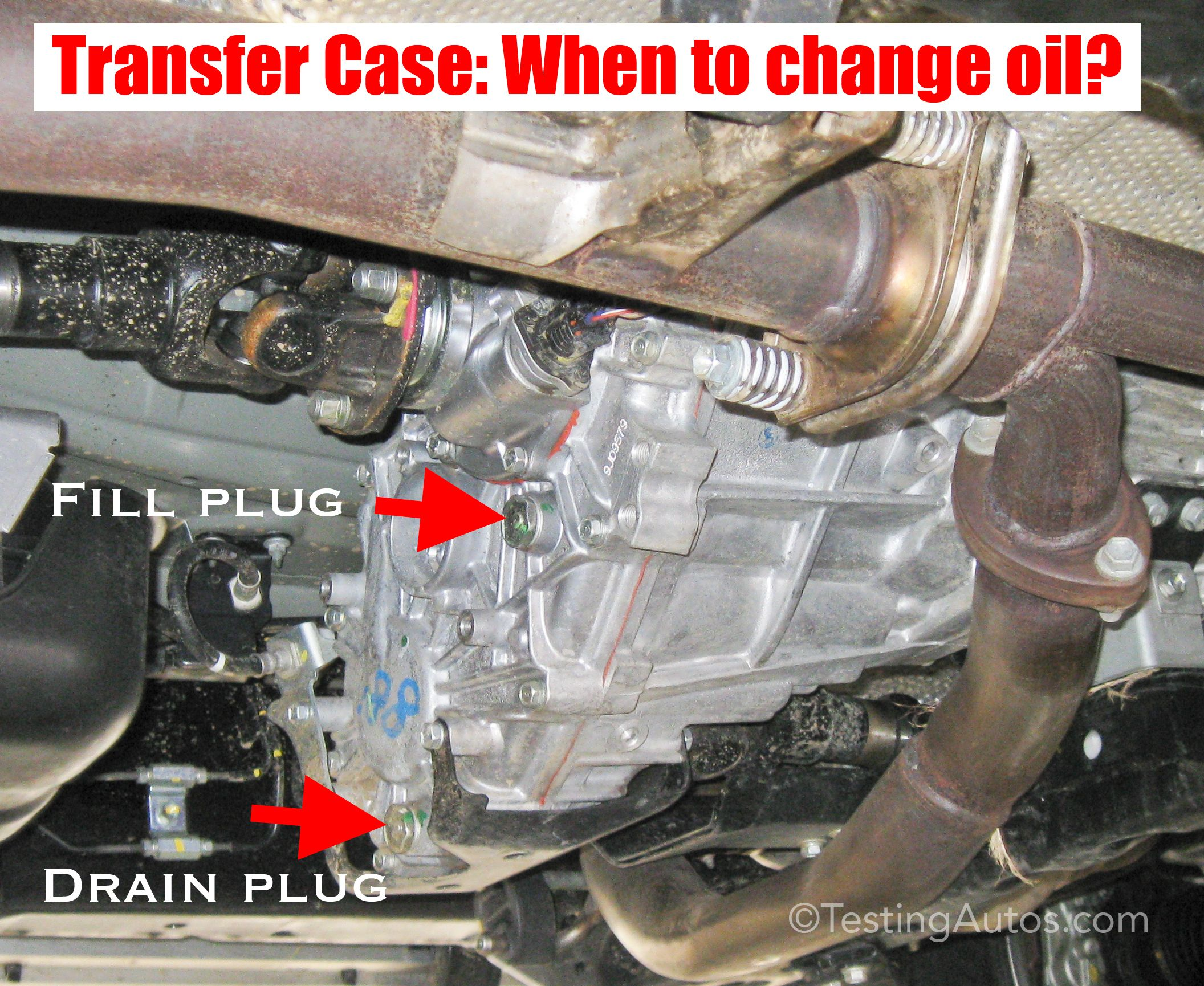 4wd transfer case when to change oil transfer case