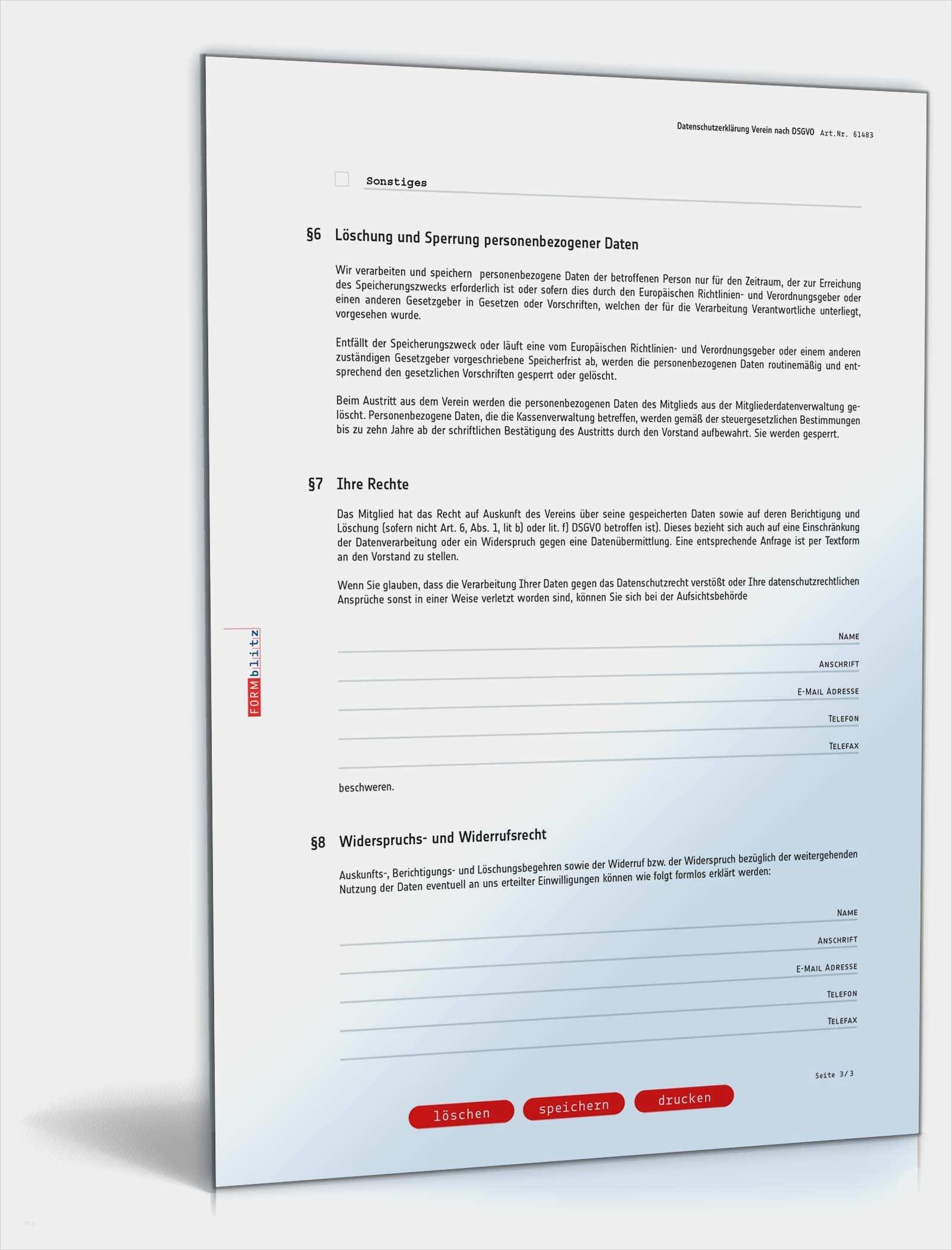 40 Wunderbar Vorlage Dsgvo Verein Galerie In 2020 Vorlagen Briefkopf Vorlage Rechnungsvorlage