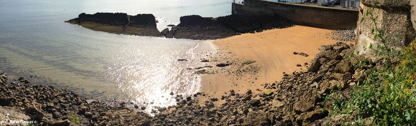 In Luanco, Spain, there is a small sandy beach in front of an old church. People called it La Iglesia (The Church) and this is what you can see if you sit in front of the church on a sunny summer day...