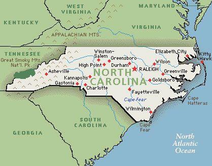 Raleigh Nc North Carolina Map North Carolina Carolina Usa