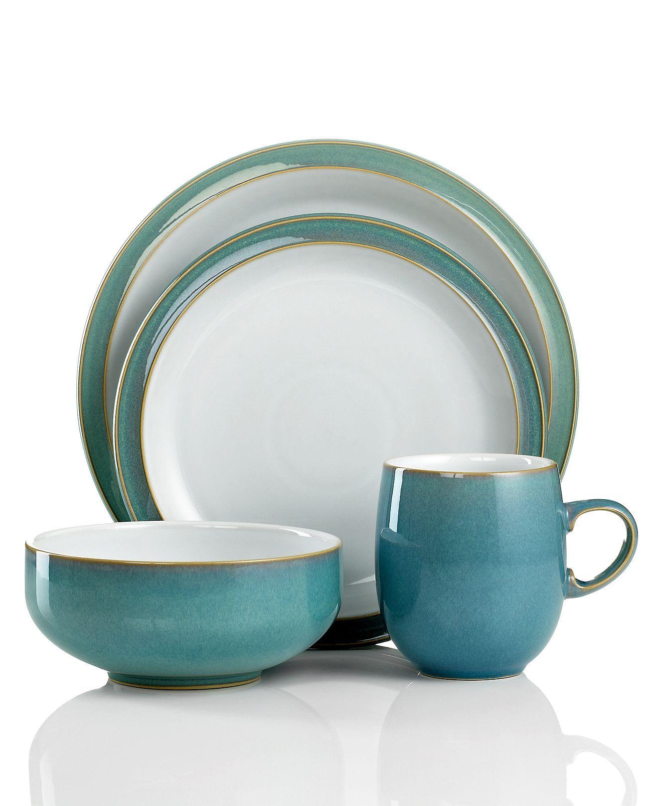 denby dinnerware azure 4 piece place setting dinnerware. Black Bedroom Furniture Sets. Home Design Ideas