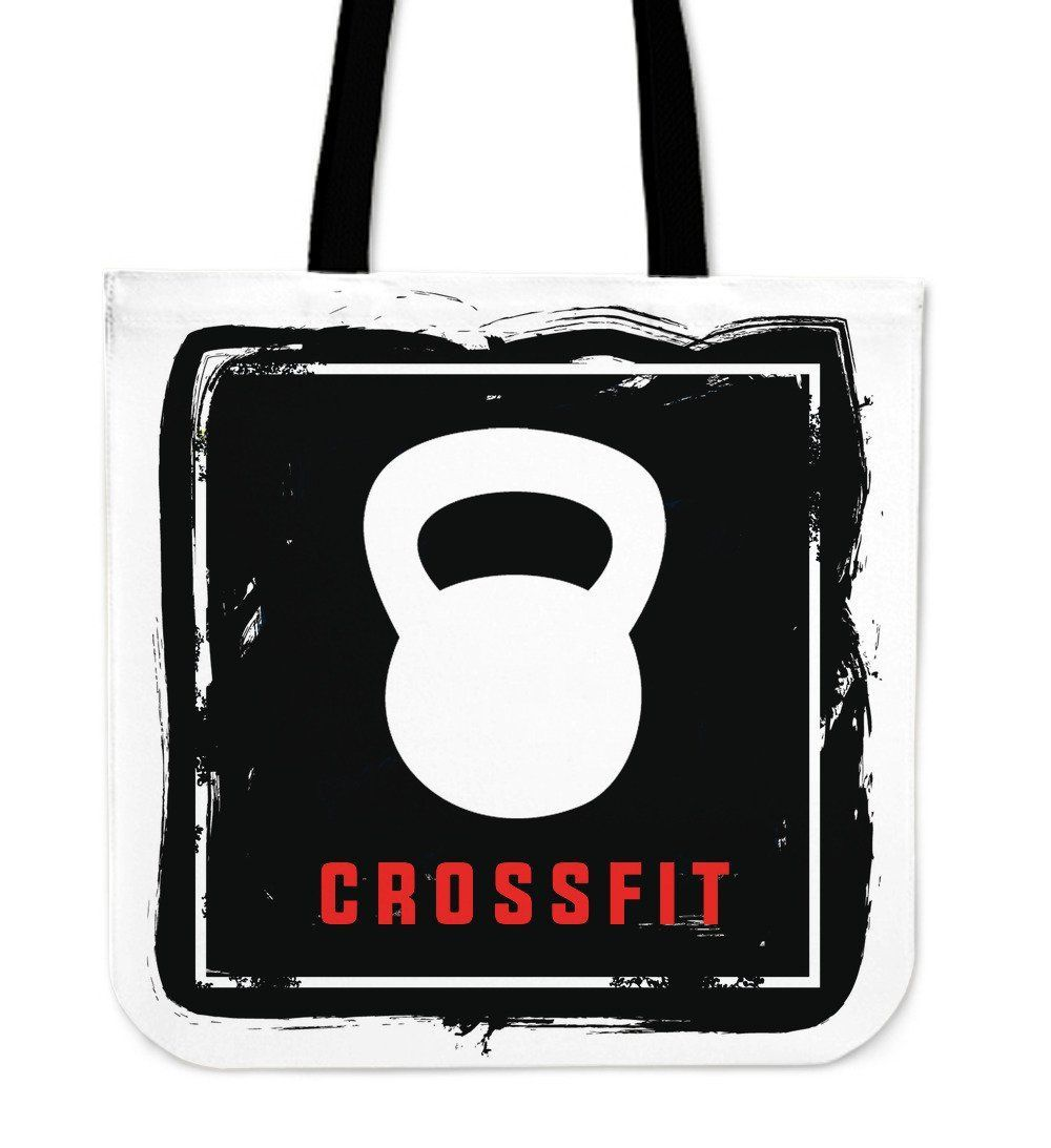 Handy Kettlebell Crossfit Inspired Custom Printed Tote Bag