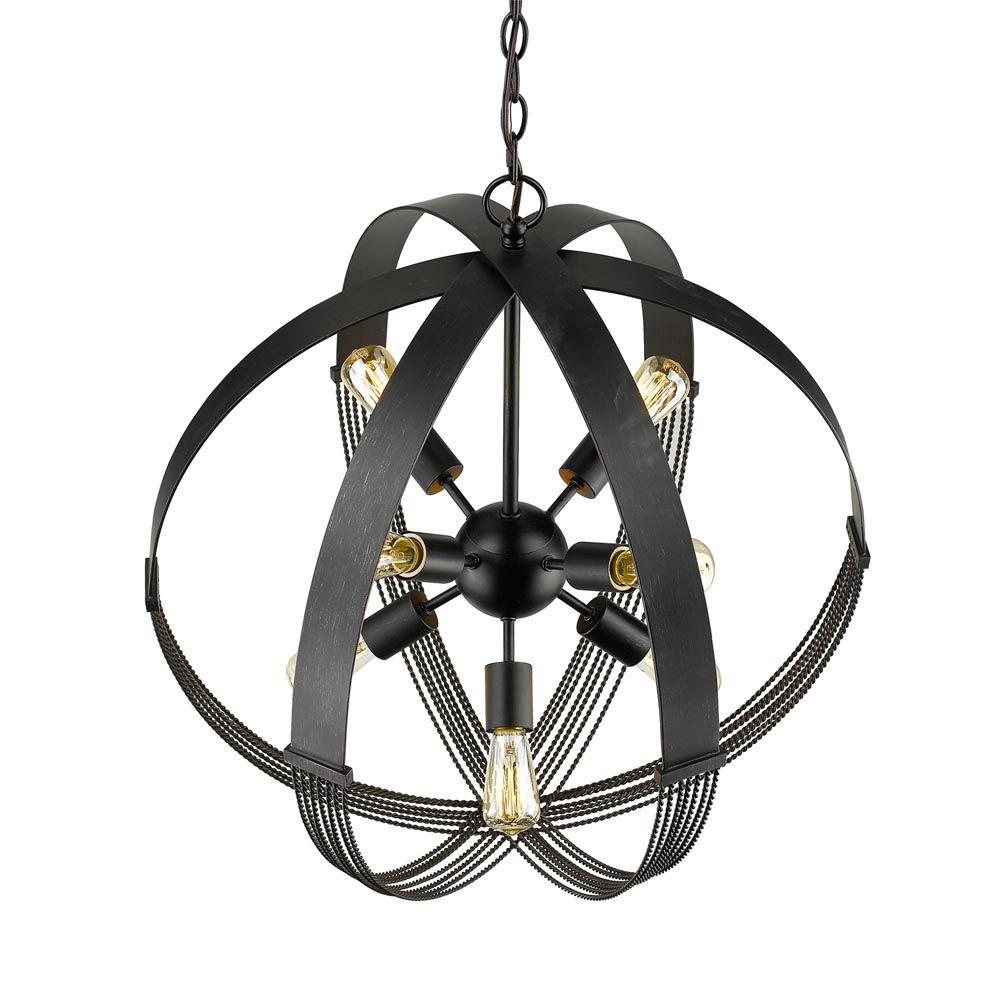 Golden Lighting's Carter 8 Light Pendant #7001-8P ABZ
