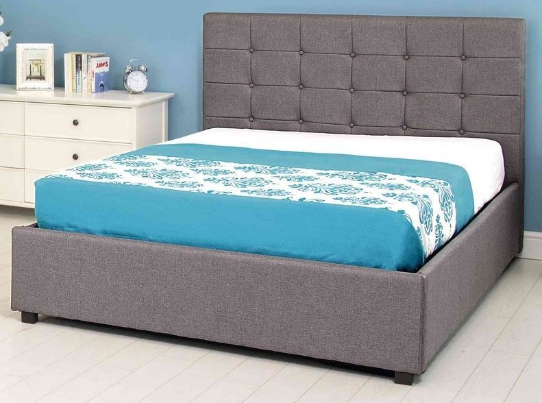 Fabric Grey Ottoman Storage Bed 4FT6 Double 5FT King High Quality ...