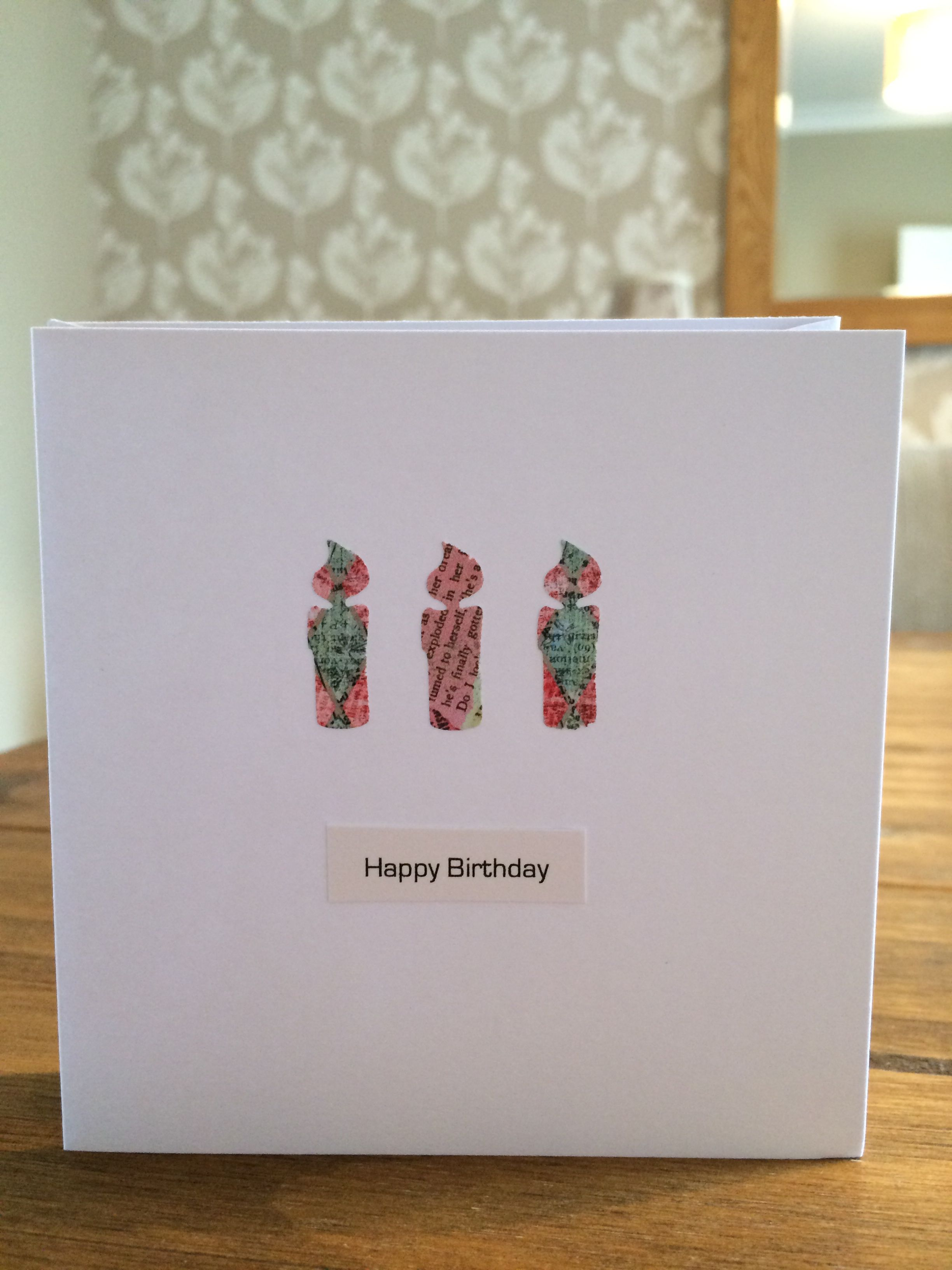 Birthday card candles handmade cards and other products jh