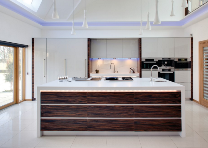 Evolve Kitchen With Ebony Macassar Accents#kitchendesign Custom Modern Kitchen Interior Design 2018