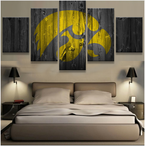 5 Pieces Iowa Hawkeyes Sports Wall Art Picture Modern Home ...