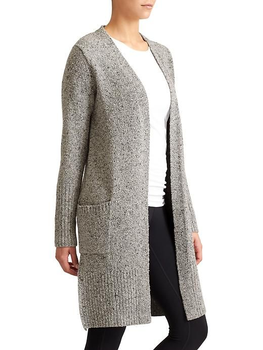 Passage Sweater Coat - This 3/4-length tweed sweater coat with an ...
