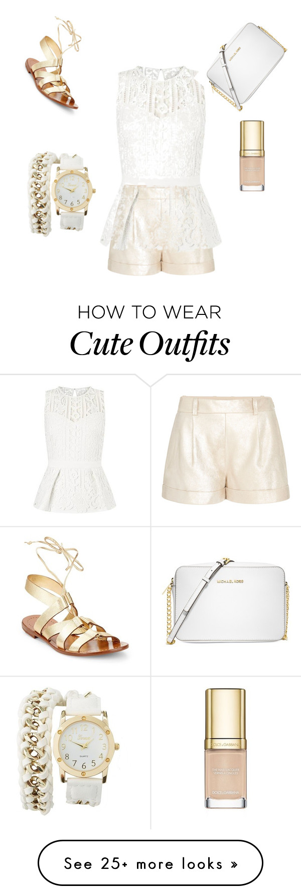 """Cute going out day outfit "" by styleicon12 on Polyvore featuring Diane Von Furstenberg, Lipsy, Kate Spade, Michael Kors, Charlotte Russe and Dolce&Gabbana"