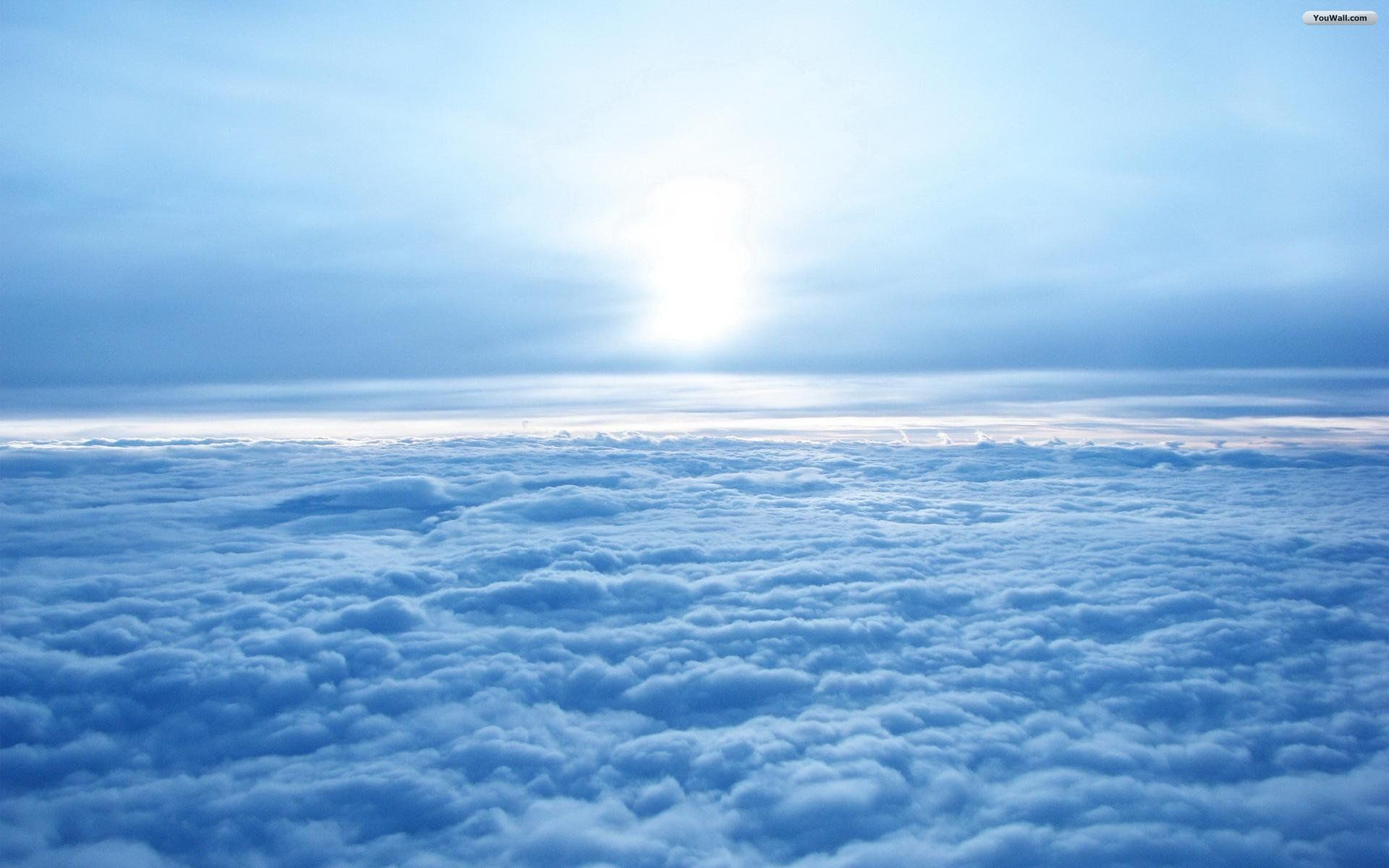 Blue Clouds Heaven Wallpaper Clouds Above The Clouds