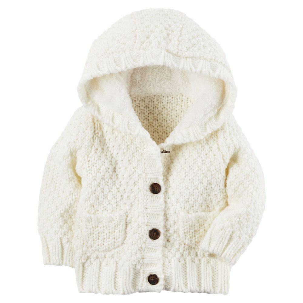 21c73e64d Baby Girl Carter s Sherpa-Lined Knit Jacket