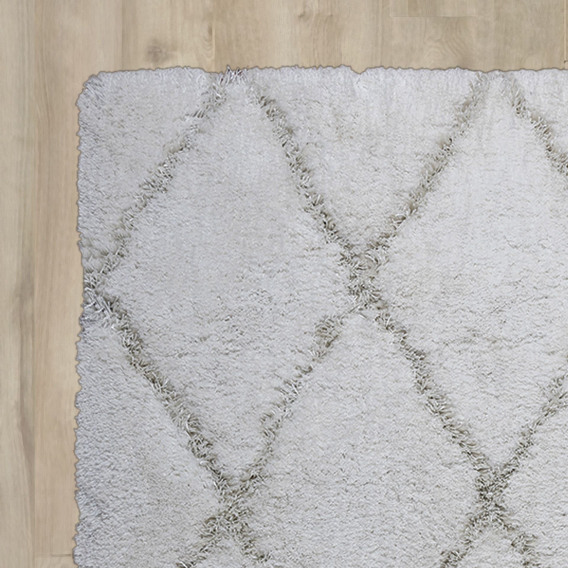 Vaquero Hand-Tufted White/White Area Rug