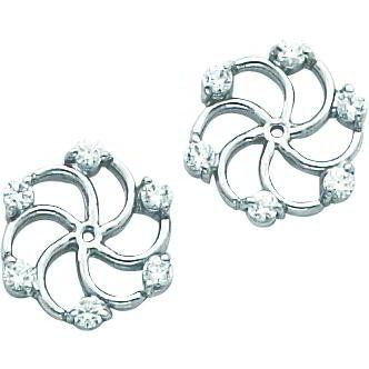 14k White Gold Moissanite Earring Jackets Findingking 289 99
