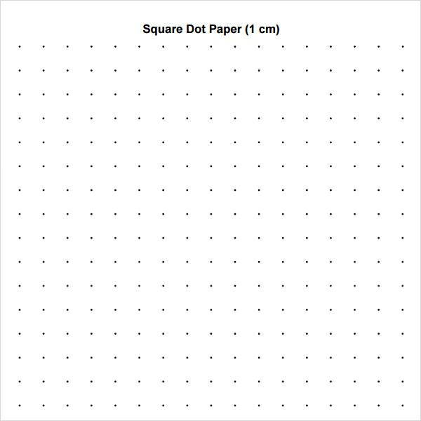 Square Dot PaperPrint Free Graph Paper Download  Printable