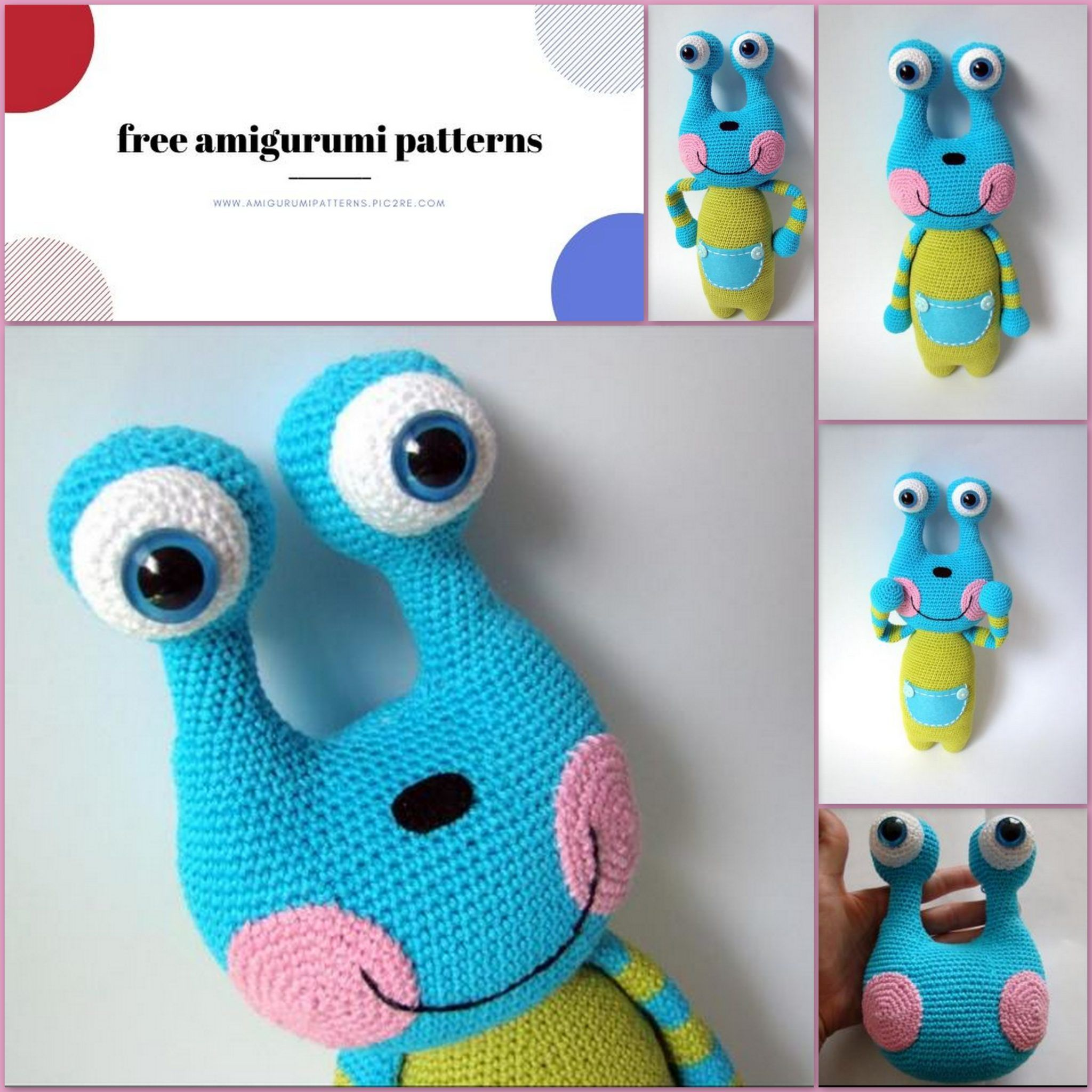 Allen the Alien Amigurumi Crochet (Pattern Only) - Ollie + Holly ... | 2048x2048