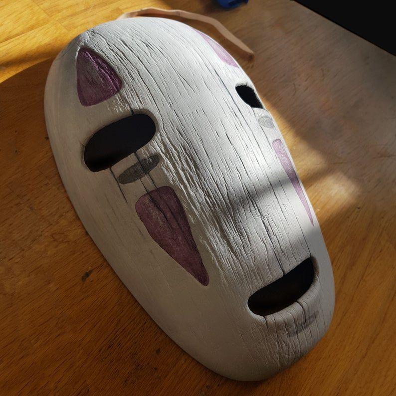 Spirited Away Inspired Noface Mask Studio Ghibli Cosplay Or Etsy Noface Studio Ghibli Spirited Away