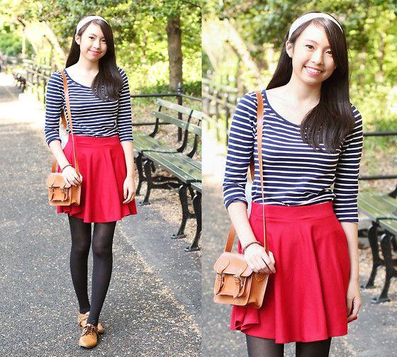 Pink Closet Red Skater Skirt