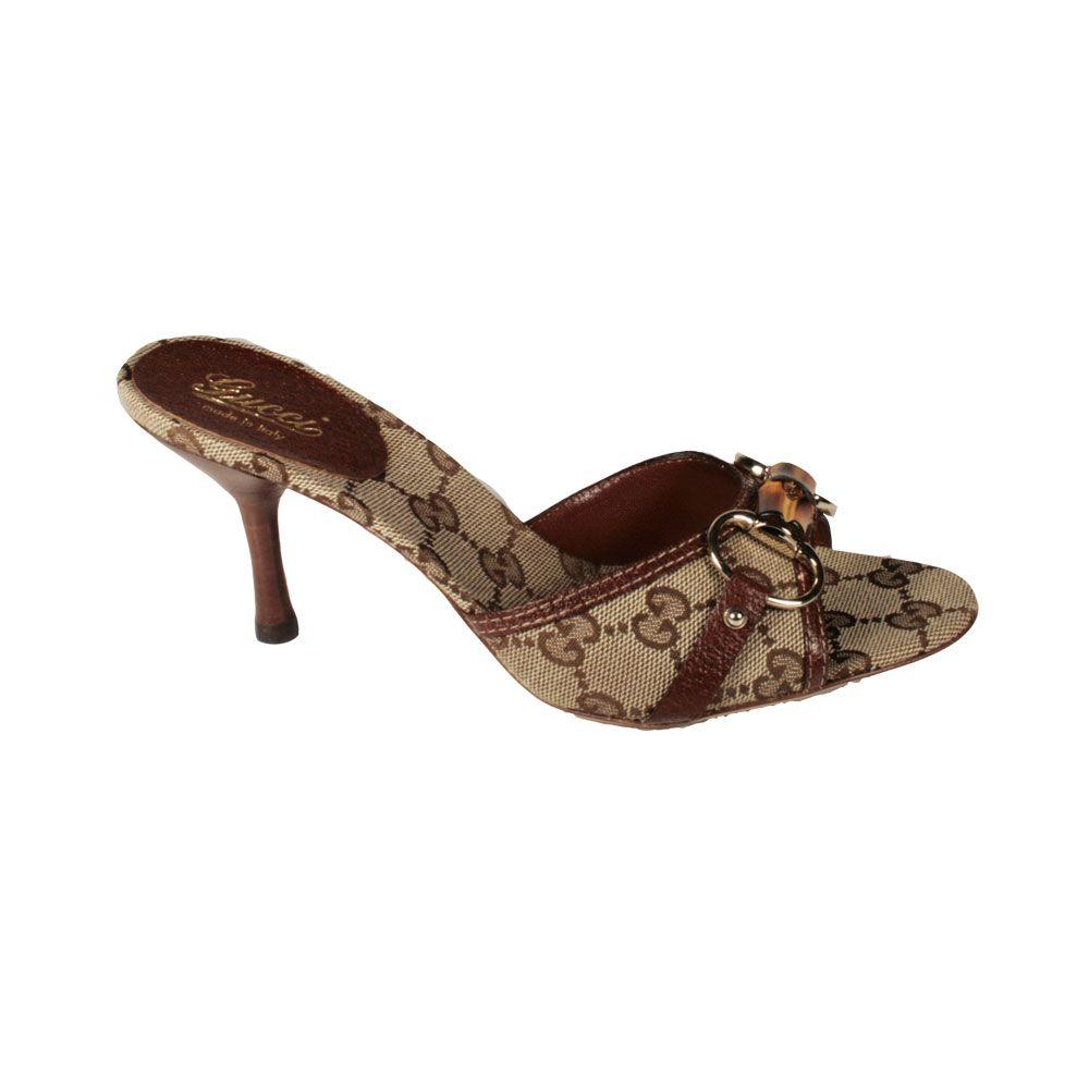 a6315f7faae Gucci shoes womens GG logo Beige   Brown Sandals (GGW2534)