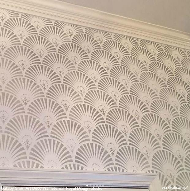 Silk Road Suzani Wall Stencil | Deco wall, Wall stenciling and ...