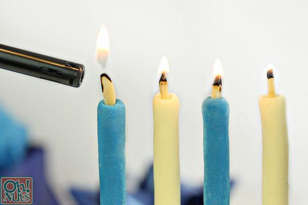 Edible Menorah Candles | Recipe | Edible candles, Menorah ...
