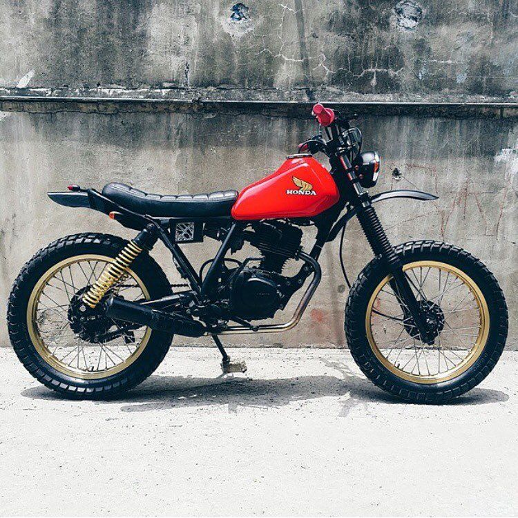 Nothing Beats Clean Lines And Simple Colours Honda Xl125s From Philippines Based Revoltcy Custom Bikes Cafe Racers Cafe Racer Motorcycle Scrambler Motorcycle
